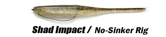 Keitech Shad Impact No-Sinker-Montage