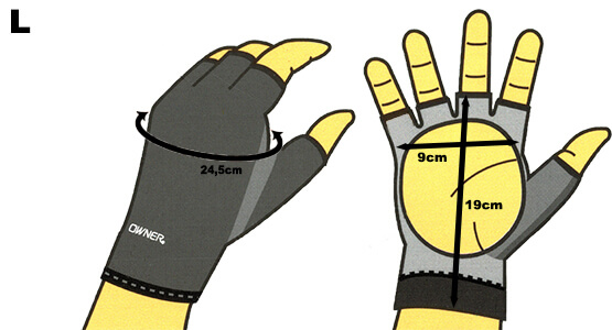 Sensitive Gloves Size L