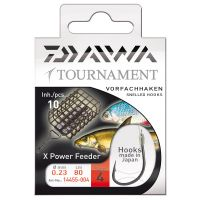 Daiwa Tournament X-Power Feederhaken Vorfachhaken 80cm 10Stk.