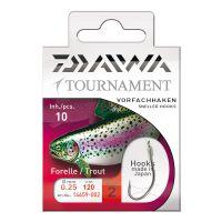 Daiwa Tournament Forellenhaken Vorfachhaken 60cm 10Stk.