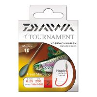 Daiwa Tournament Snelled Sbirolino Hooks 250cm 10pcs.