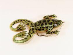 Jenzi Jack's Rubber Froggy Frosch gold-schwarz