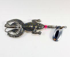 Jenzi Jack's Rubber Froggy Spin Frosch grau-braun