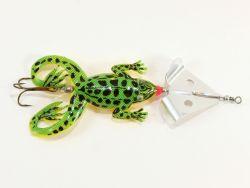 Jenzi Jack's Rubber Froggy Buzzer-Bar Frosch grün-gelb