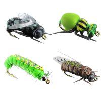Jenzi Insektenimitate L 4Stk. Fliege Käfer Raupe Hornisse