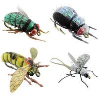 Jenzi Insektenimitate L 4Stk. Fliege Käfer Wespe Eintagsfliege