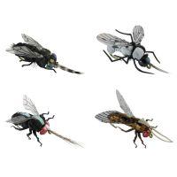 Jenzi Insektenimitate XL 4Stk. Fliege Schildlaus Fliege Fliege