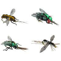 Jenzi Insektenimitate XL 4Stk. Mücke Fliege Fliege Mücke