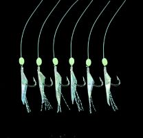 Jenzi Hochseevorfach Echte Fischhaut mit Leuchtperlen