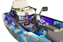FeelFree Dorado 125 Angelkajak Overdrive Pedal und Motor