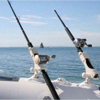 Railblaza Ribport mit Sternhalterung für Schlauchboote  weiß selbstklebend