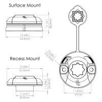 Railblaza Starport Sternhalterung für horizontale Montage