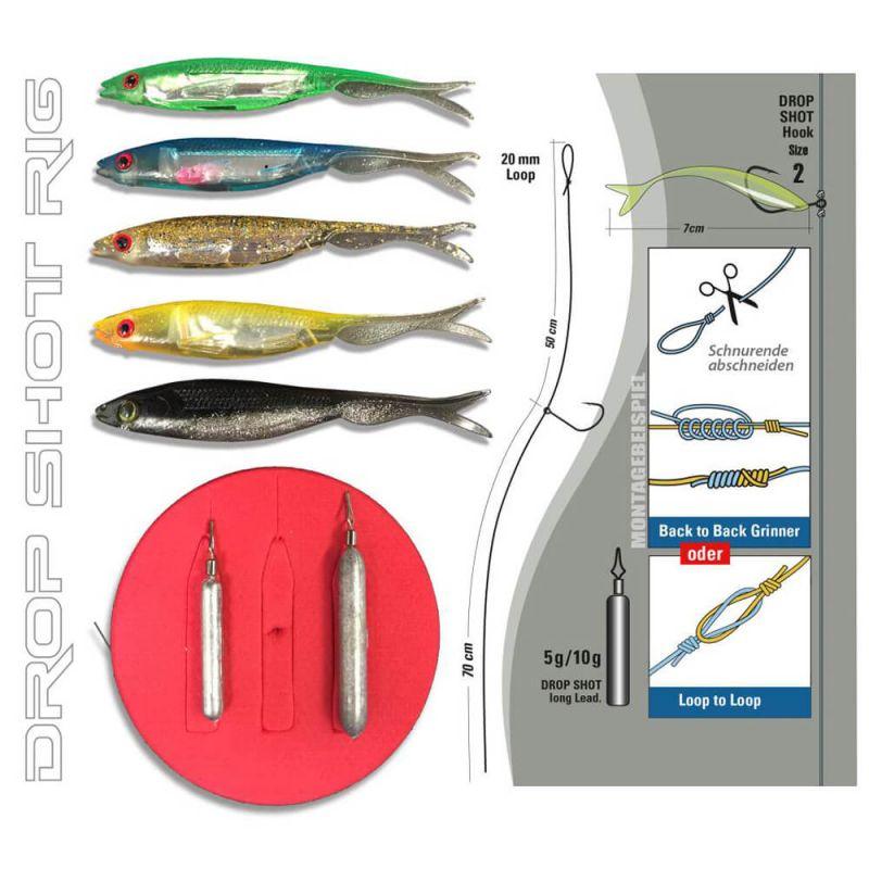 Jenzi Drop Shot Rig Complete-Kit Ready to Fish