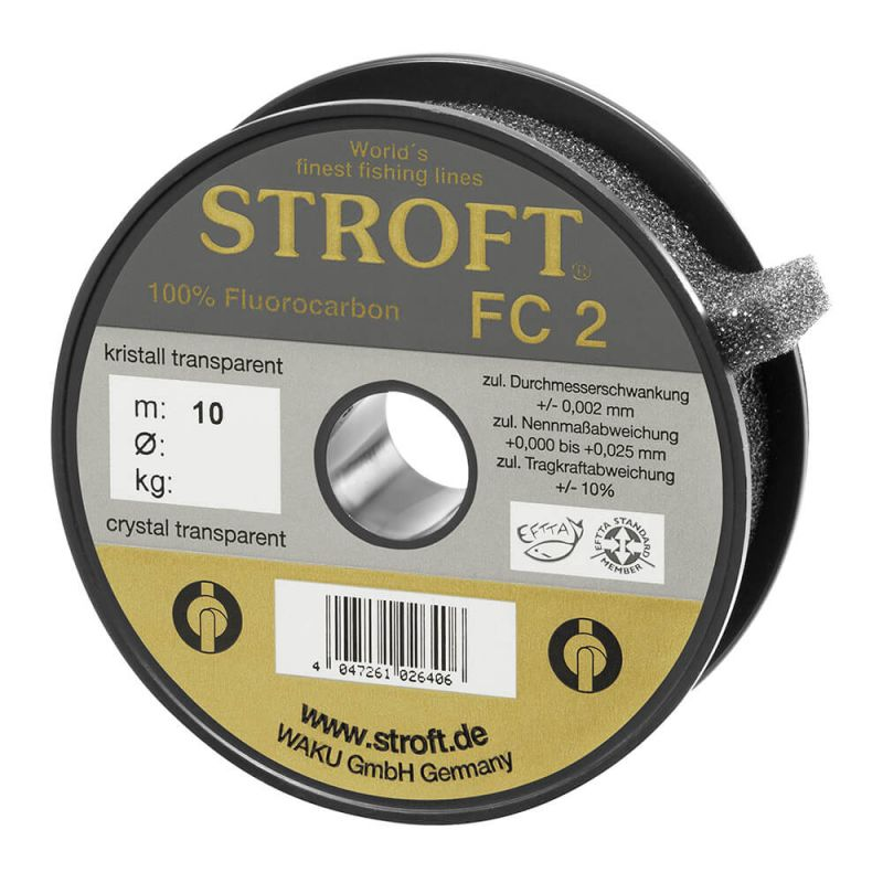 WAKU Schnur STROFT FC2 Fluorocarbon 25m