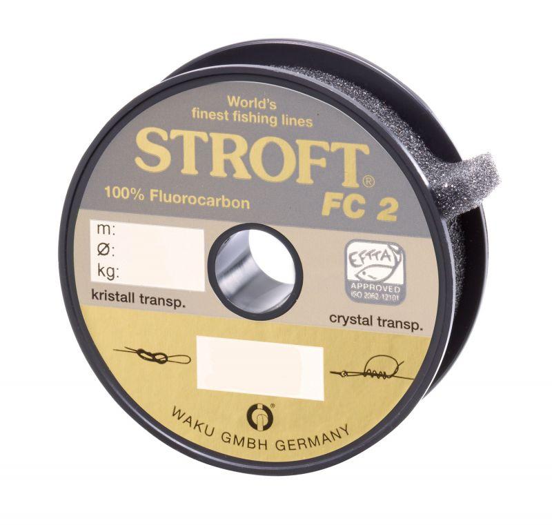 STROFT FC1 Schnur 100/% Fluorocarbon Vorfach  25 m # 0,145 mm