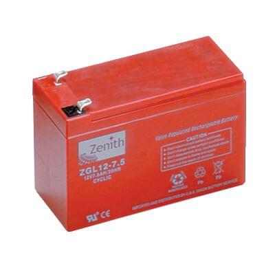 zenith agm batterie 12v echolotbatterie 12v 7ah im k der. Black Bedroom Furniture Sets. Home Design Ideas